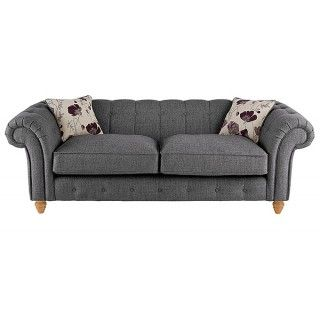 Chesterton Large Sofa in Riding Fabric - Charcoal