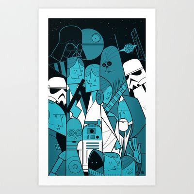 Star Wars Art Print by Ale Giorgini - $17.60