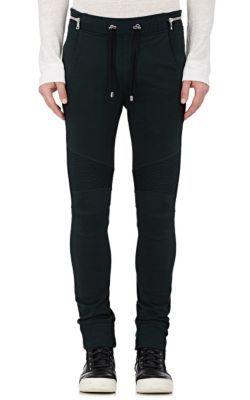 BALMAIN Cotton Moto Jogger Pants. #balmain #cloth #pants
