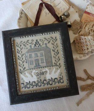 This is the seventh cross stitch pattern in the twelve pattern series from Blackbird Designs called Anniversaries of the Heart. If the entir...