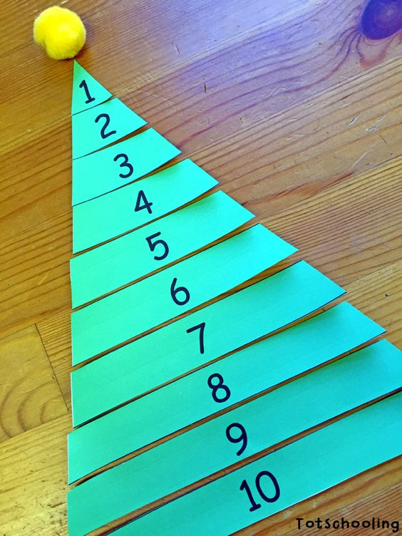 Number Names Worksheets preschool learning printable activities : Christmas trees, Learn to count and Count on Pinterest