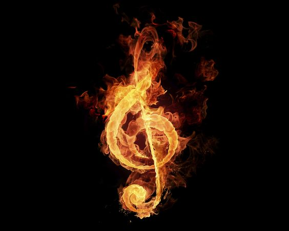 Fire Flame Music Note Wallpaper | Musical | Pinterest ...