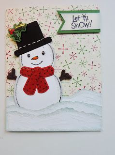 Love the snowman! Could use circle punches to create him and ribbon for his scarf. Kards by Kadie: Christmas In July Fun Shop