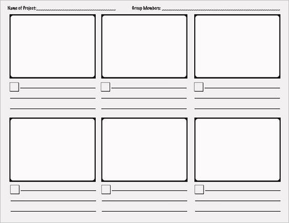 Storyboard Template   Download Free Documents In Pdf  Word