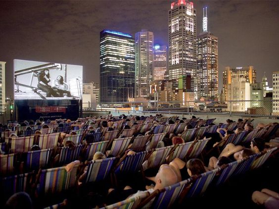 Rooftop Bar and Cinema in Melbourne, Australia