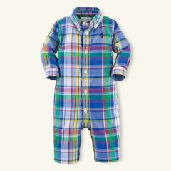Plaid Cotton Coverall - Baby Boy One-Pieces - RalphLauren.com