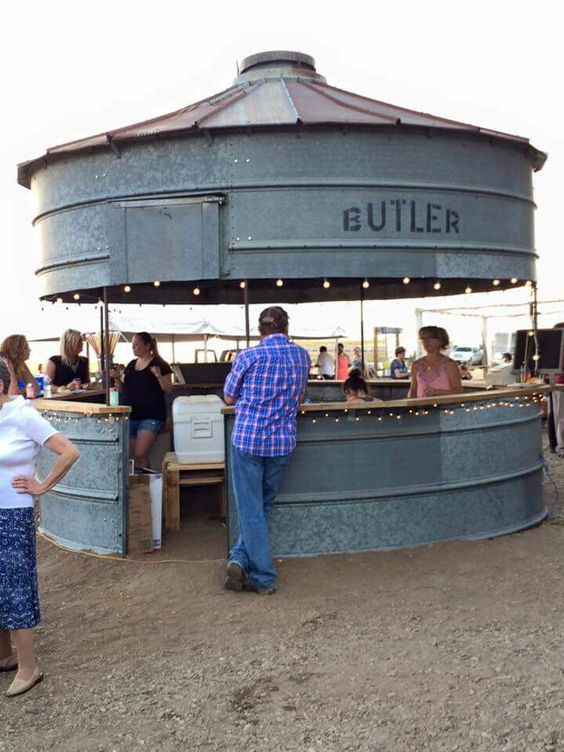Rustic Grain Silo Bar Cabin Pinterest Backyards Bar And Farms