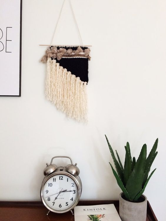 small wall hanging // hand woven wall hanging // by loomlane