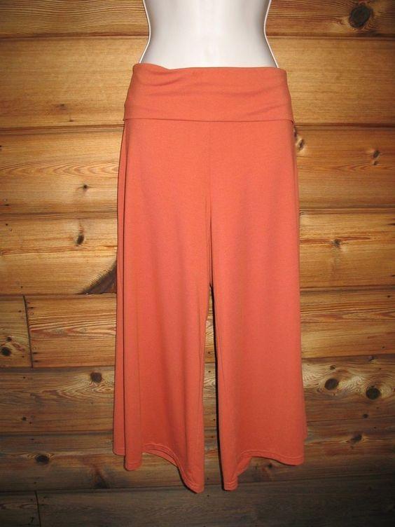 Weekenders Joy Collection Cropped Wide-Leg Pants M  Burnt Orange NEW #Weekenders #CaprisCropped