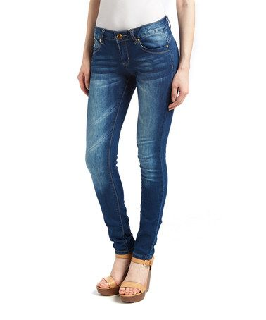 Another great find on #zulily! Dark Acid-Wash Perfect Boyfriend Jeans #zulilyfinds