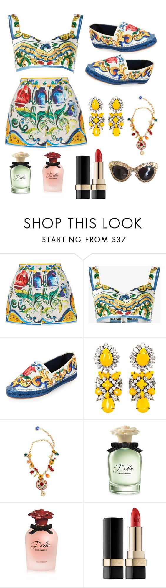 """Dolce and Gabbana"" by thetrendymermaid ❤ liked on Polyvore featuring Dolce&Gabbana and Shourouk"