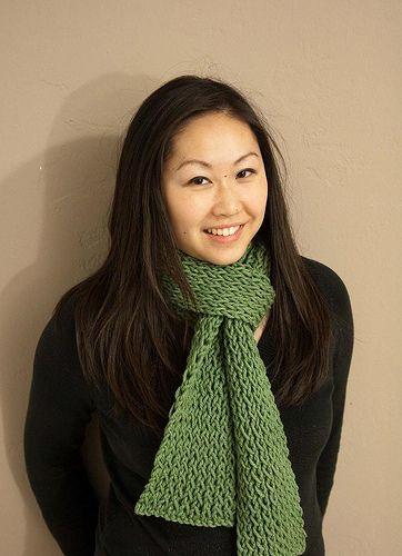 Twisted rib bulky scarf