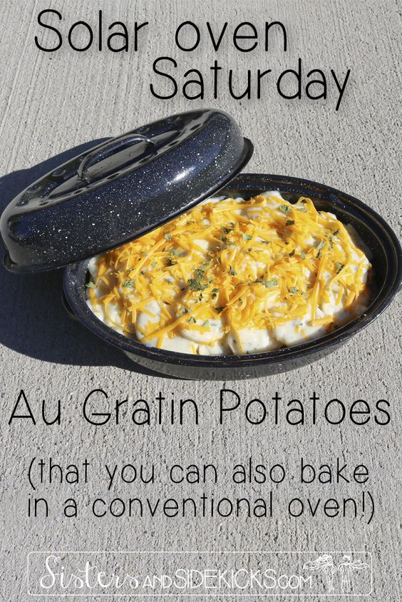 #3 in our series on Solar Oven cooking.  I was blown away by how these potatoes turned out.  Best part? You can also bake them in a conventional oven!