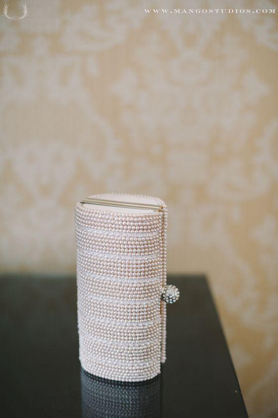 #accessories #purse #handpouch white #silver #little #bride #wedding #weddingaccessories #weddingidea #weddinginspiration #mangostudios Photography by Mango Studios