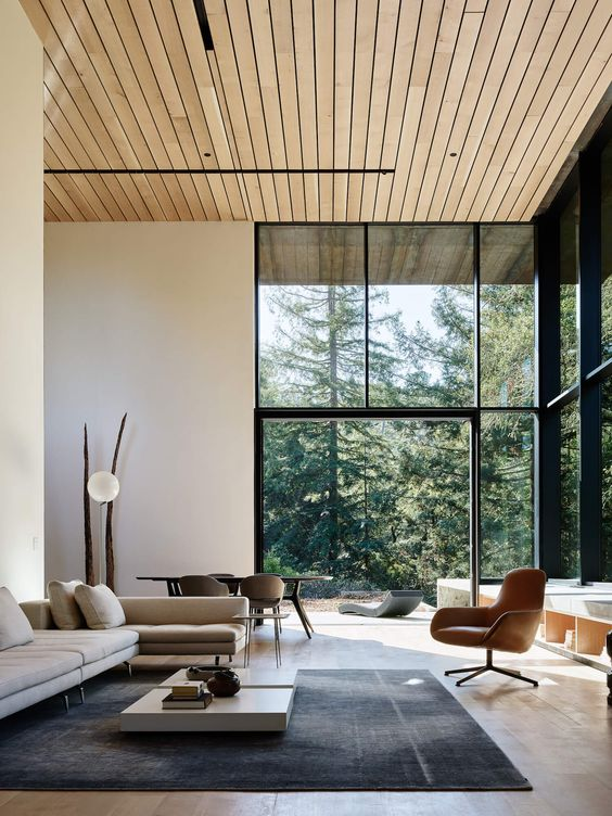 The Grand living room of Faulkner Architects Miner Road | Miner Road by Faulkner Architects | est living