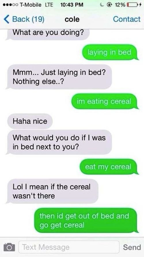 Dirty sexting ideas