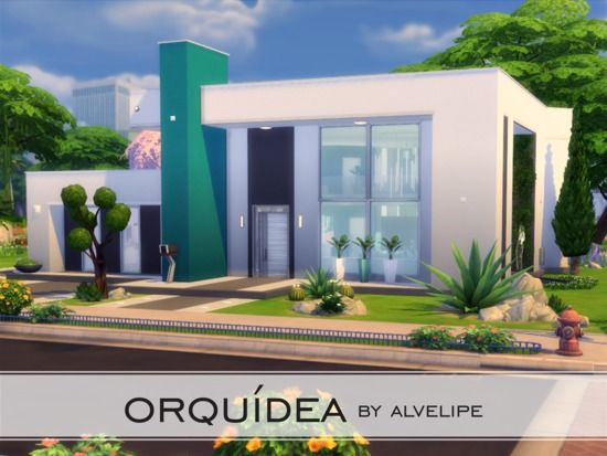 This Modern Style House Is Perfect For A Single Sim Or Just A Couple The House Is Located In Newcrest On A 30x30 Sims House Sims 4 House Design Sims 4 Houses