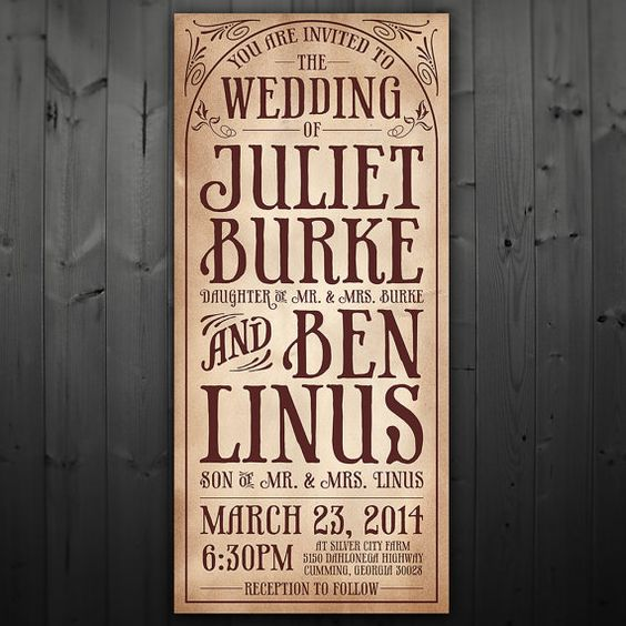 Fonts Invitations And Vintage On Pinterest