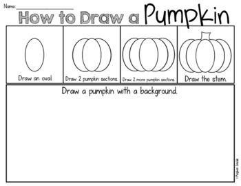 Pumpkin Draw and Write Freebie   Best of Halloween ...