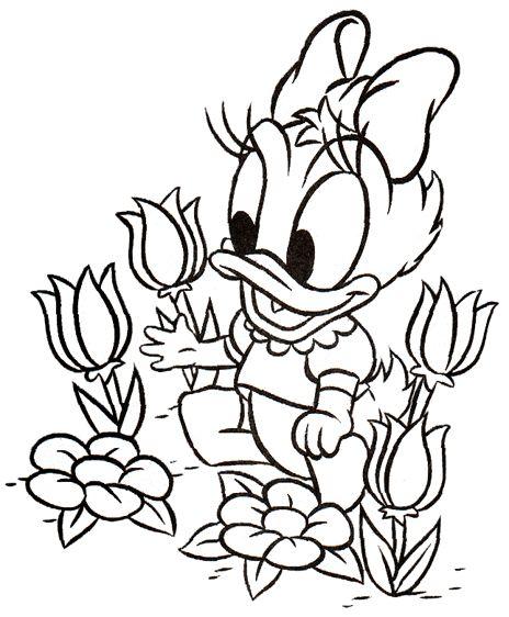 kleurplaten donald duck lente