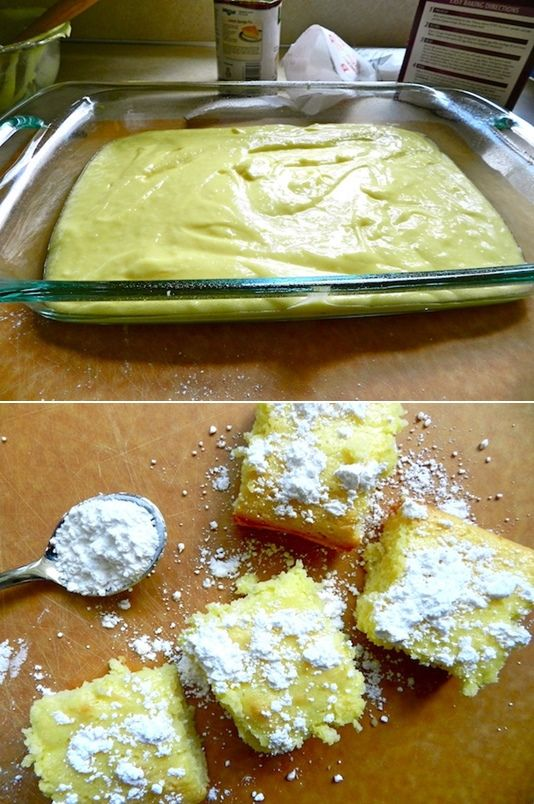 @maggim Sellers we need to make these!!! The link won't give you the recipe but it's a box of angel food cake and 22oz of lemon pie filling. Bake 350 for 30 min!!! Top with powdered sugar!!!!! Yummmmmmy!!!