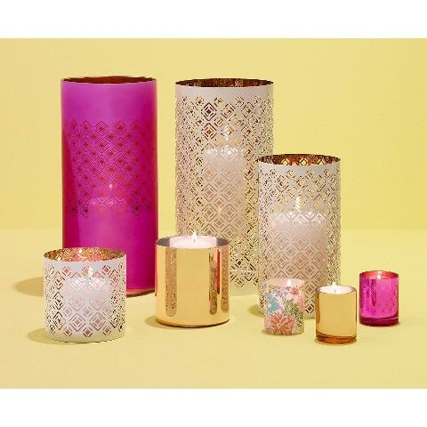 Lilly Pulitzer For Target Glass Hurricane Candle Holder