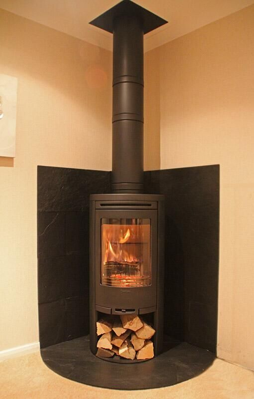 today 39 s woodstove installation contura 510 with curved. Black Bedroom Furniture Sets. Home Design Ideas