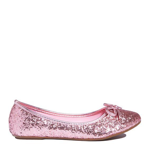 Pink Glitter Flat: