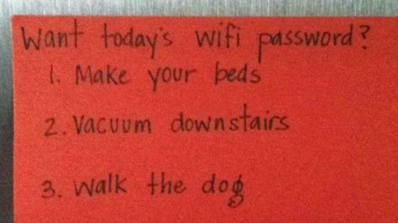Best Parenting Trick Ever! - I wonder if it works on husbands too...