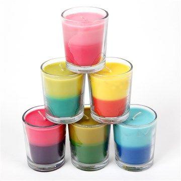 6 Bougies parfumées à la citronnelle