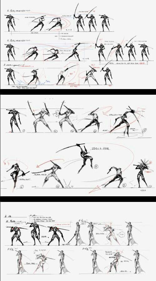 Motion Action Scene Gesture Fight Scene Reference Art Poses