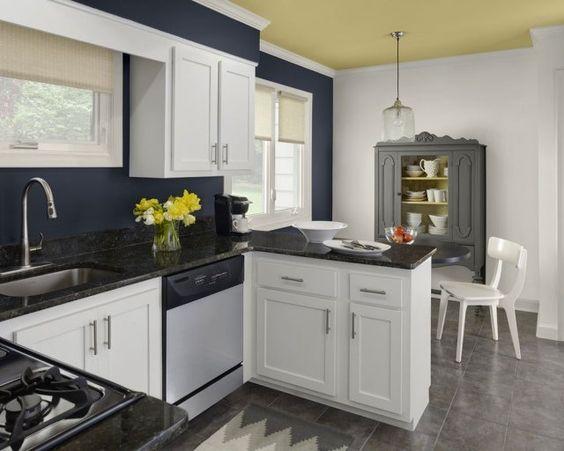 Peinture cuisine : 40 idées de choix de couleurs modernes