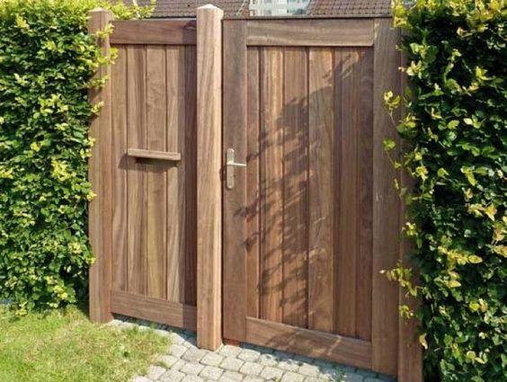 houten poorten tuinpoorten houten hekken hekwerk