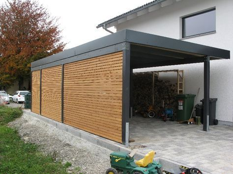 Frisch partially enclosed carport, wood, attached - Google Search | I'm  VT71