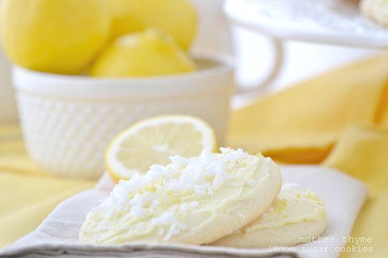 Lemon Sugar Cookies with Lemon Buttercream Frosting