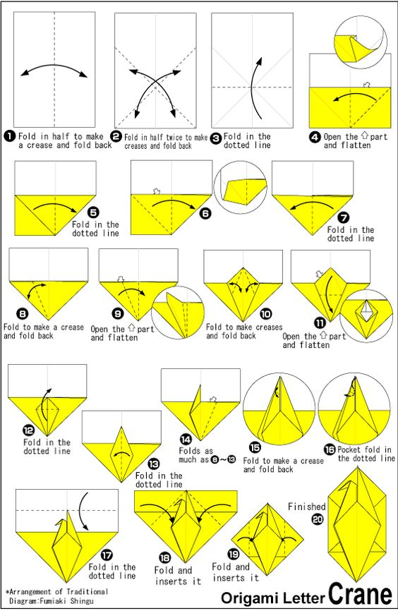 Project 01 origami letter cranet origami pinterest for Crane folding instructions