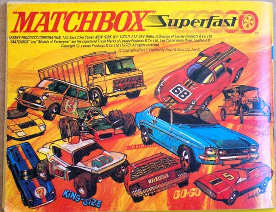 Back cover of 1970 Matchbox Superfast catalogue.
