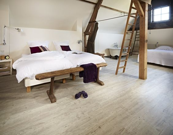 Moduleo Latin Pine 24110 Rustic Bedroom With Luxury Vinyl Plank Floor It With Luxury Vinyl