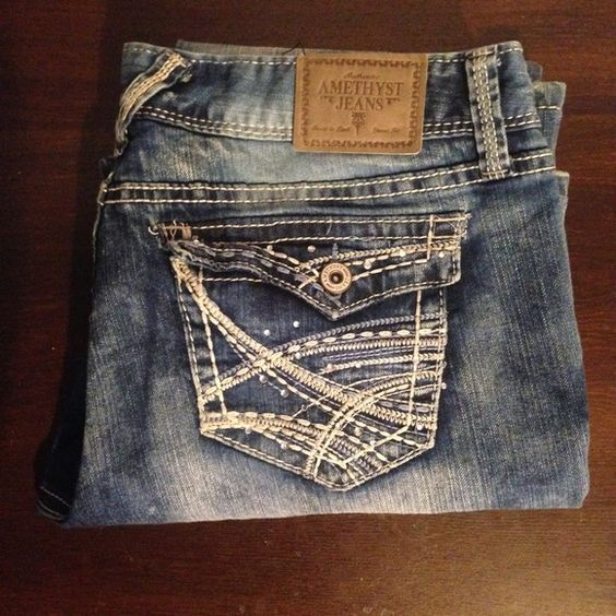 Size 13 Distressed Jeans  Amethyst Jeans  Great condition distressed amethyst jeans size 13. Amethyst Jeans Boot Cut
