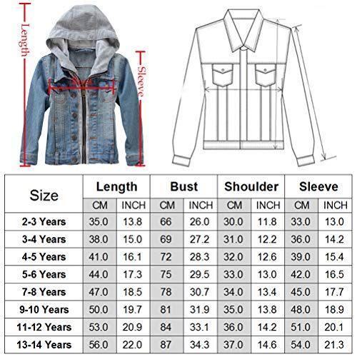 Children Boys Girls Coat Zipper Denim Baby Hoodies Jackets Outerwear 3-8Years