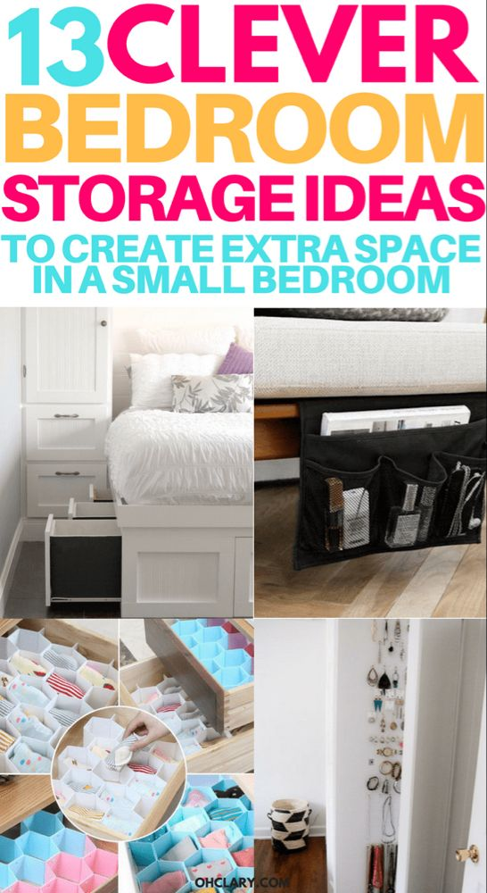 13 Mind Blowing Small Bedroom Storage Ideas For Small Apartments Bedroom Organization Diy Closet Small Bedroom Small Bedroom Storage
