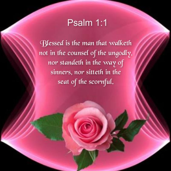 Psalm 1:1 Blessed is the man that walketh not in the counsel of the ungodly, nor standeth in the way of sinners, nor sitteth in the seat of the scornful. KJV