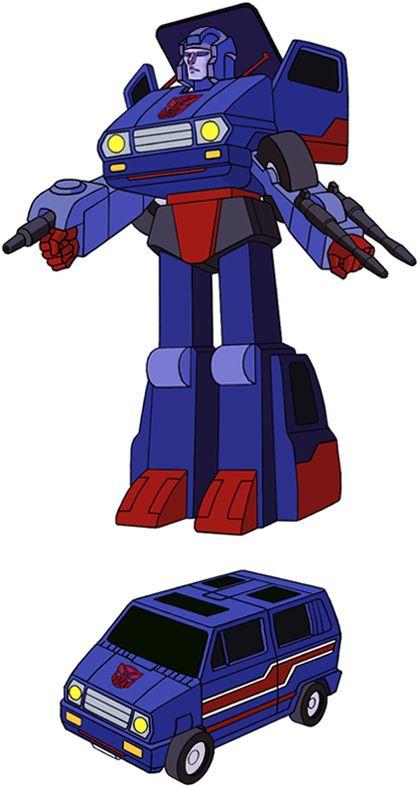 Transformers Generation 1 Cartoon Characters : Skids Тормоз Гальмівник в сериале его имя не