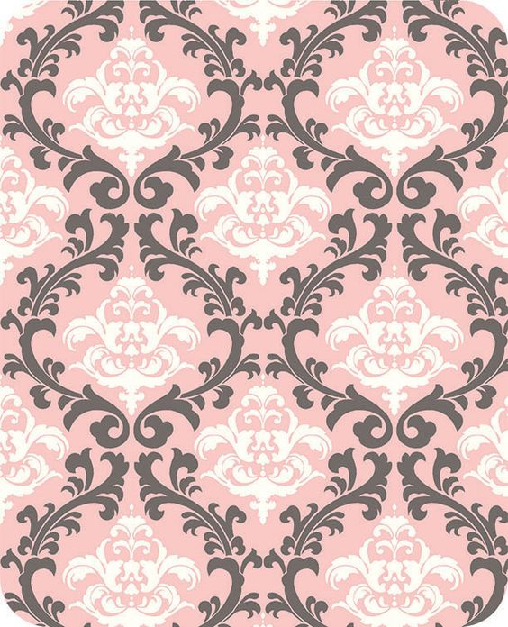 Vine Damask Cuddle Blush
