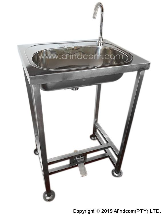Freestanding Hands Free Foot Operated Hand Wash Basin Comes With Spout And Metered Foot Valve Wash Basin Basin Hands Free