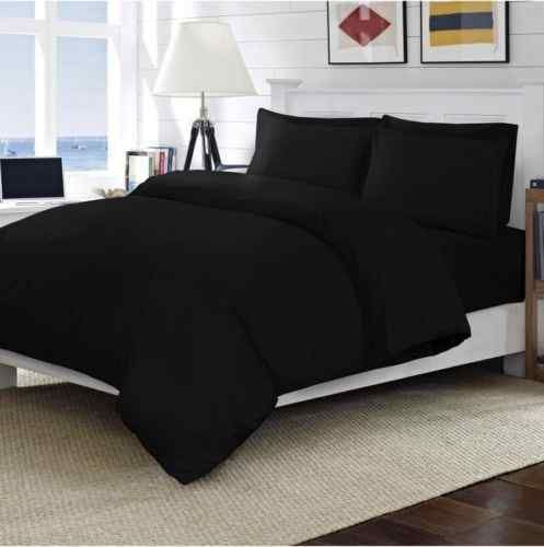 Egyptian Cotton Black T200 Percale Flat Sheet Linen And Bedding
