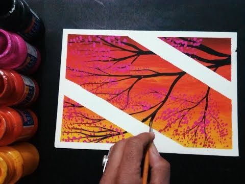 Diy Easy Poster Colour Painting Ideas For Beginners Youtube