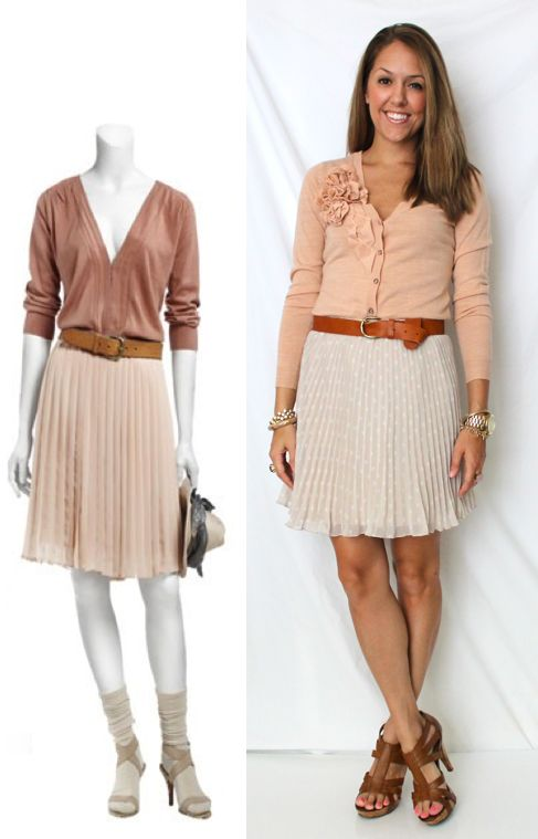 Cardigan: New York & Company, Skirt: Express, Belt: H, Shoes: Chinese Laundry