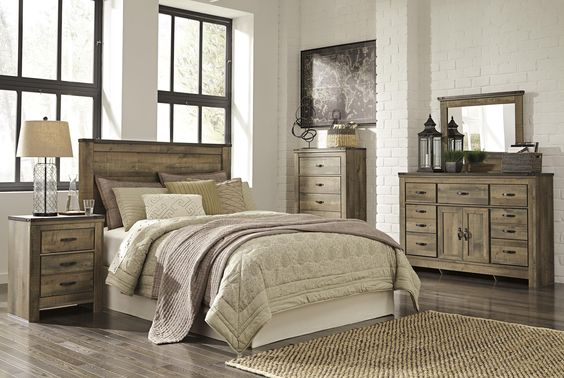 Signature Design by Ashley Trinell Queen Bedroom Group - Beck's Furniture - Bedroom Group Sacramento, Rancho Cordova, Roseville, California