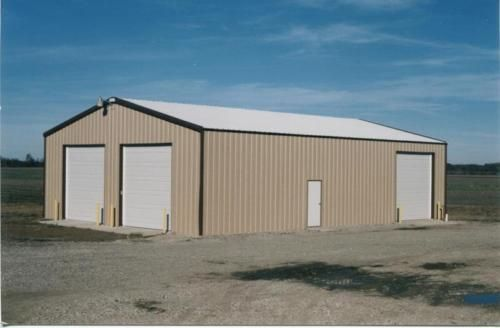 Steel Building 24x24x12 Simpson Metal Building Steel Garage Shop Kit Steel Building Homes Steel Buildings Metal Buildings
